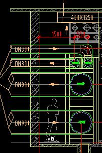 DN900的空调供回水管道支吊架参考什么图集制作