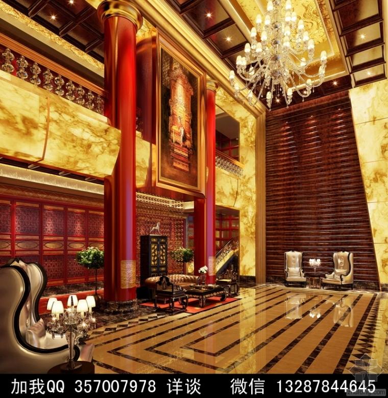 中式风格酒店设计案例效果图