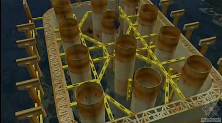 天兴洲大桥钢吊箱围堰施工动画,拿了詹天佑奖就是不一样!