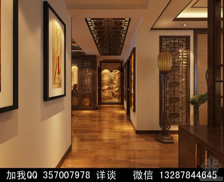 中式风格家装设计案例效果图2