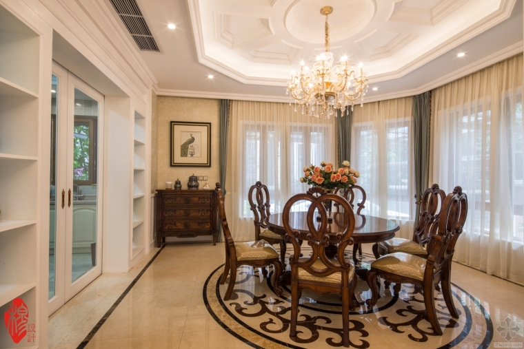 成都别墅装修设计案例丨新古典风格