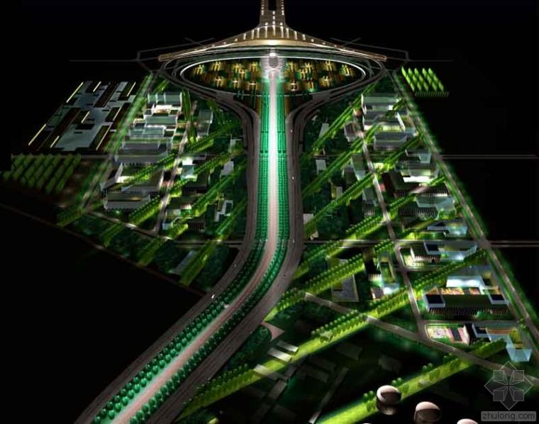 首都国际机场航站楼楼前景观与城市规划