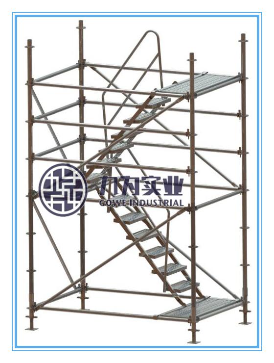 新型盘扣脚手架安全爬梯搭设有什么注意事项