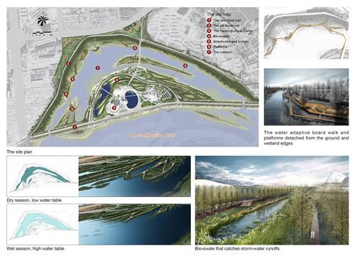 漂浮的公园:哈尔滨文化中心湿地公园
