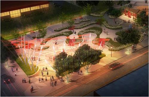 """""""城市戏台""""——西雅图庆喜公园"""