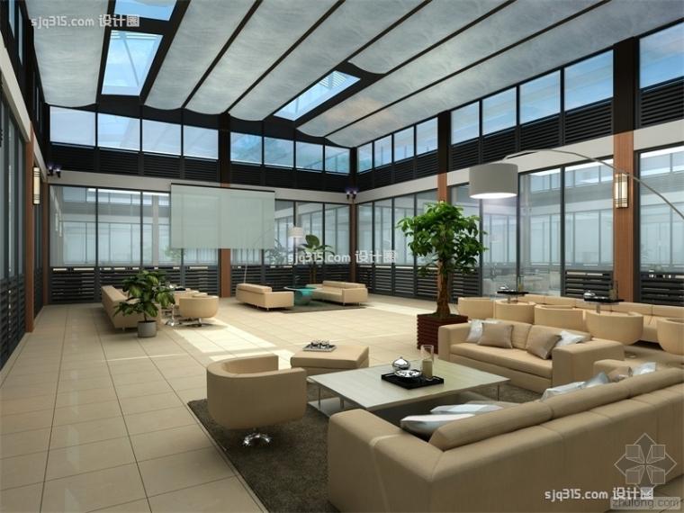 2000平米普南京罗办公室装修效果图|设计圈设计师王远