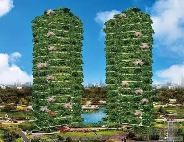 一体式60层别墅,高层住宅也有农场,花园,太牛了!