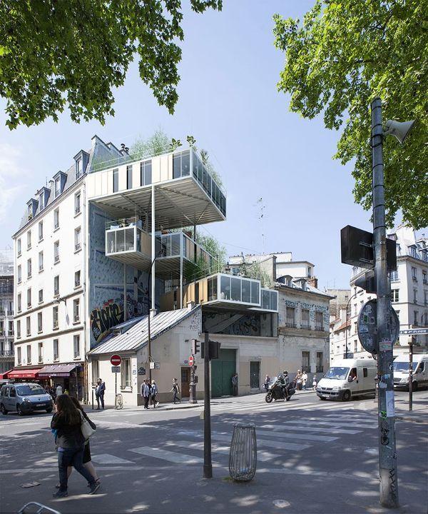 巴黎一个屋顶组合式住房单元