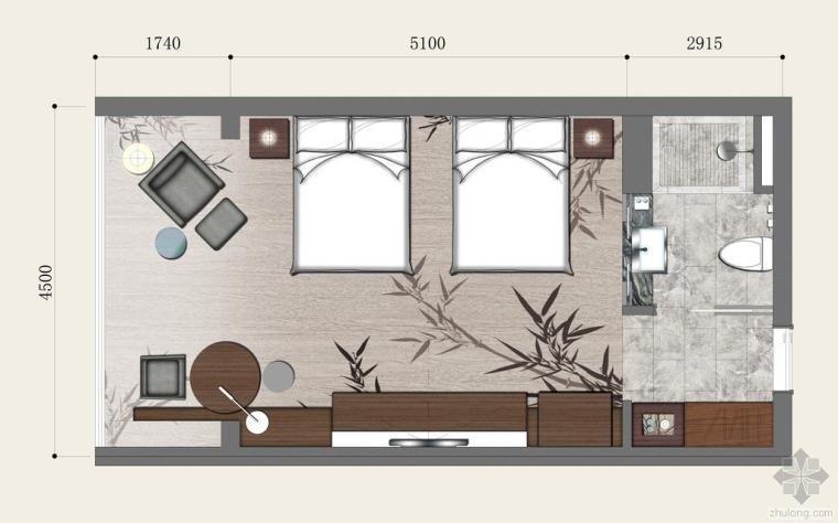 酒店客房布置平面图,希望对大家有用。