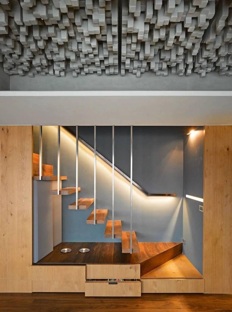 居室|多种灰阶媒材组合的时尚居宅