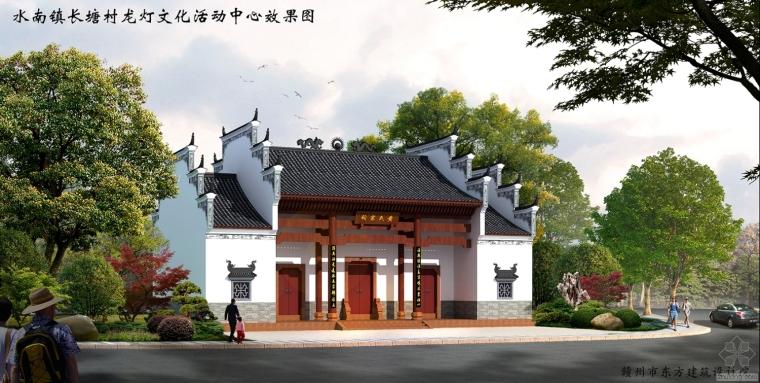 传统建筑--祠堂(效果图)