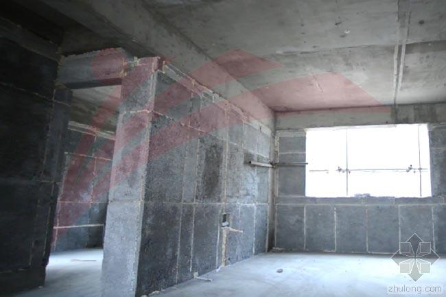 框架结构建筑工程填充水泥聚苯模壳墙体施工程