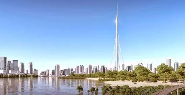 迪拜 建筑结构大师的想象力划破迪拜1000米的天空!