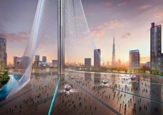 迪拜|建筑结构大师的想象力划破迪拜1000米的天空!_14