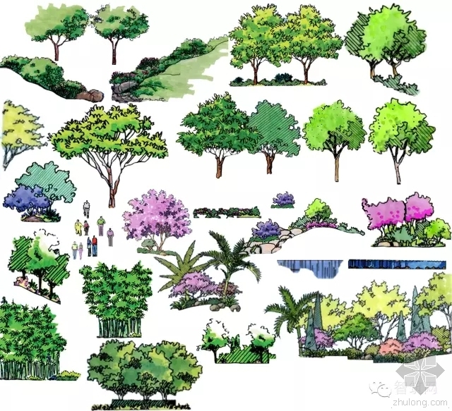 景观手绘效果图