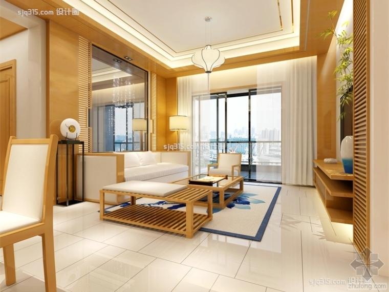 简约中式100平米三居室装修效果图|设计圈郑超设计师