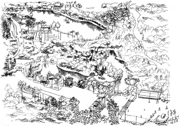 南山佛教文化旅游区鸟瞰图<scrip
