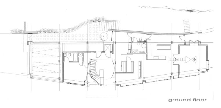 底层平面图 ground floor plan-雕刻家公寓(Residence for a Sculptor)第19张图片