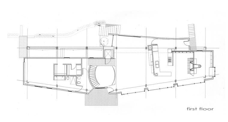 二层平面图 first floor plan-雕刻家公寓(Residence for a Sculptor)第20张图片