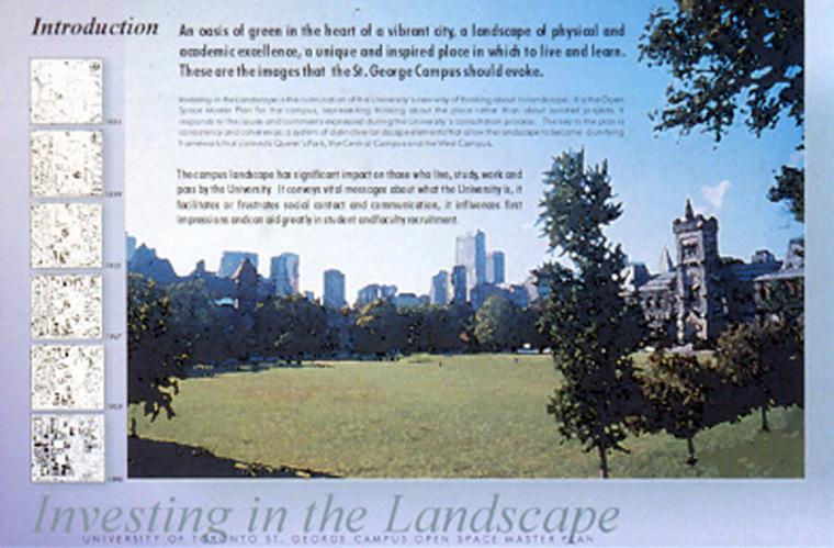 多伦多大学的圣乔治开放空间总体规划 (University of Toronto St. George Open Space Master Plan )第1张图片