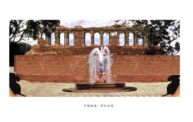 欧式喷泉平面图设计资料下载-欧式喷泉