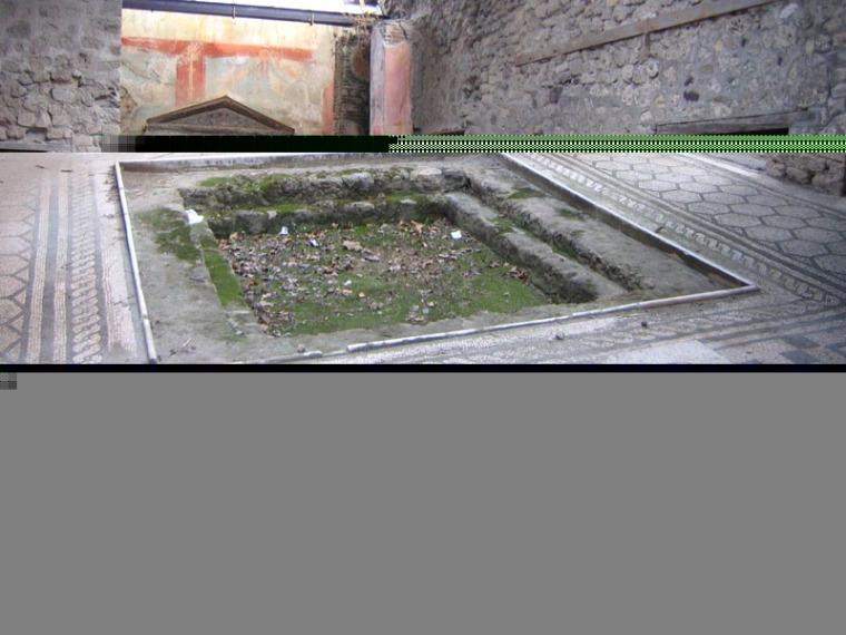 庞培古城的罗马浴场