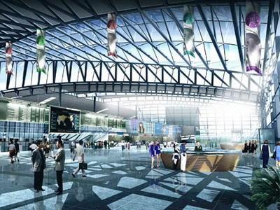 呼和浩特白塔机场航站区规划和航站楼方案