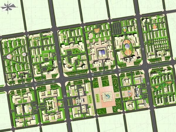 庆阳市西峰南区控制性详细规划及中心区修建性详细规划