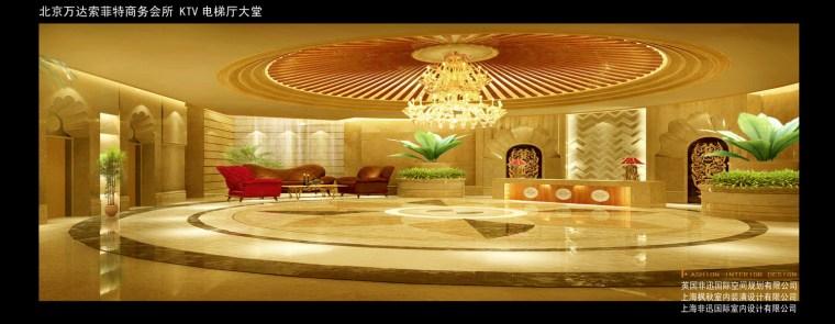 效果图电梯厅大堂-高端KTV效果图第10张图片