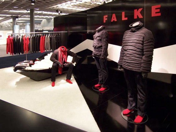 Falke Sport品牌的店铺展示设计