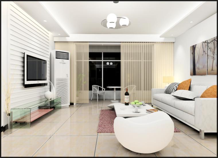 清水居三室两厅家庭装修设计第2张图片