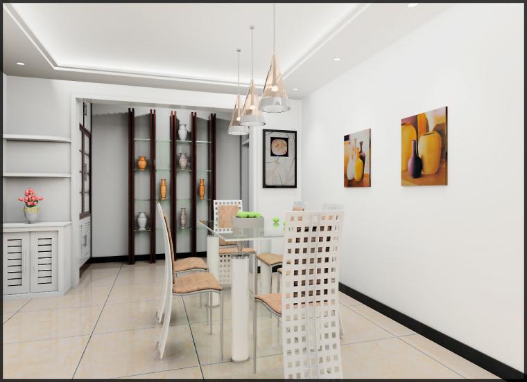 清水居三室两厅家庭装修设计第3张图片