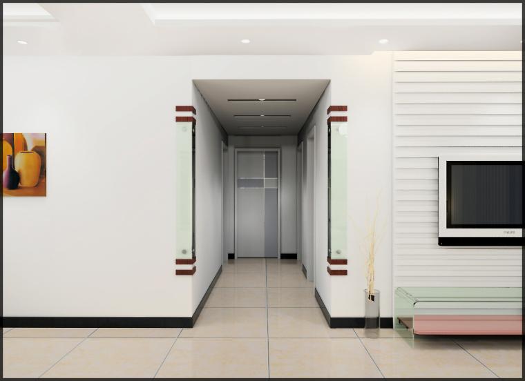 清水居三室两厅家庭装修设计第4张图片