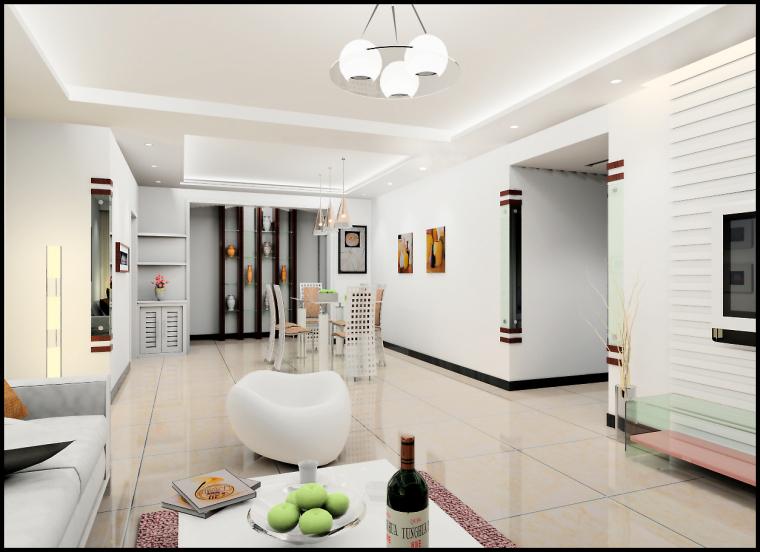 清水居三室两厅家庭装修设计第5张图片