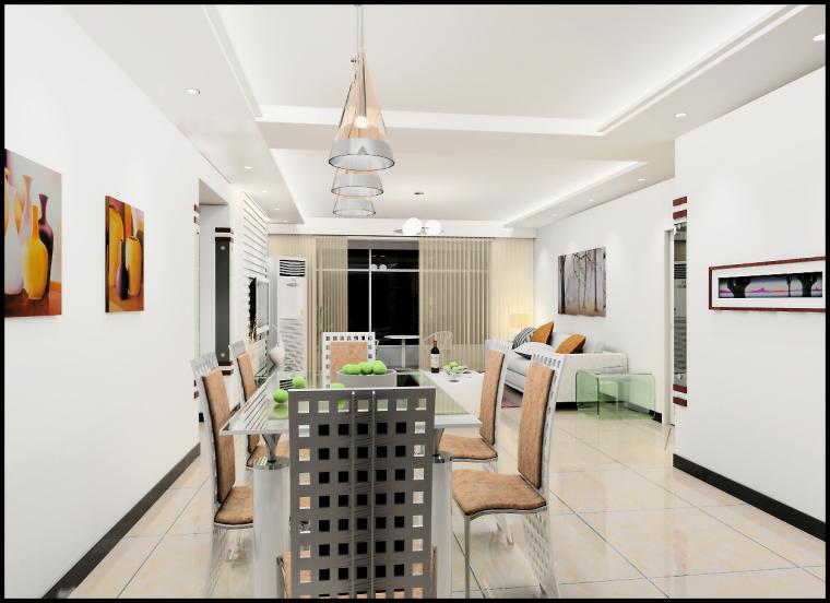清水居三室两厅家庭装修设计第6张图片