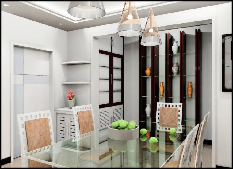 清水居三室两厅家庭装修设计第7张图片