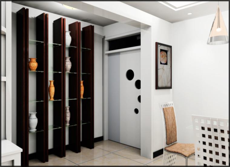 清水居三室两厅家庭装修设计第8张图片