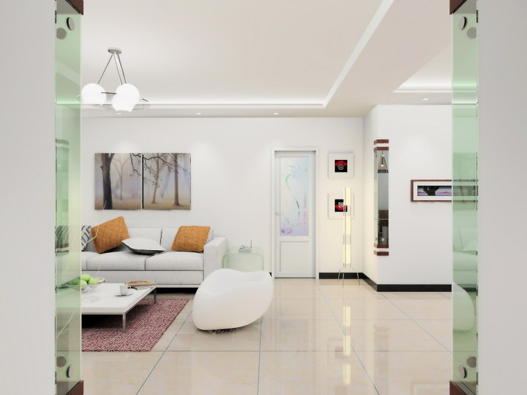 清水居三室两厅家庭装修设计