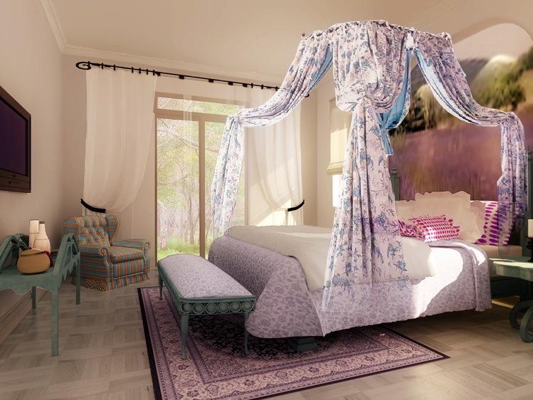 唯美地中海卧室