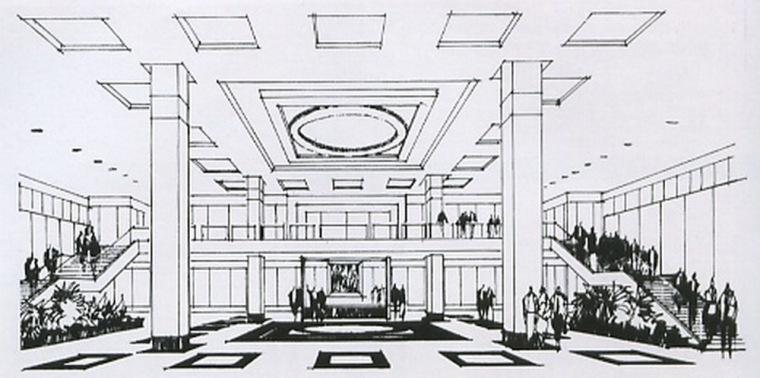 昆明市中级人民法院室内设计第3张图片
