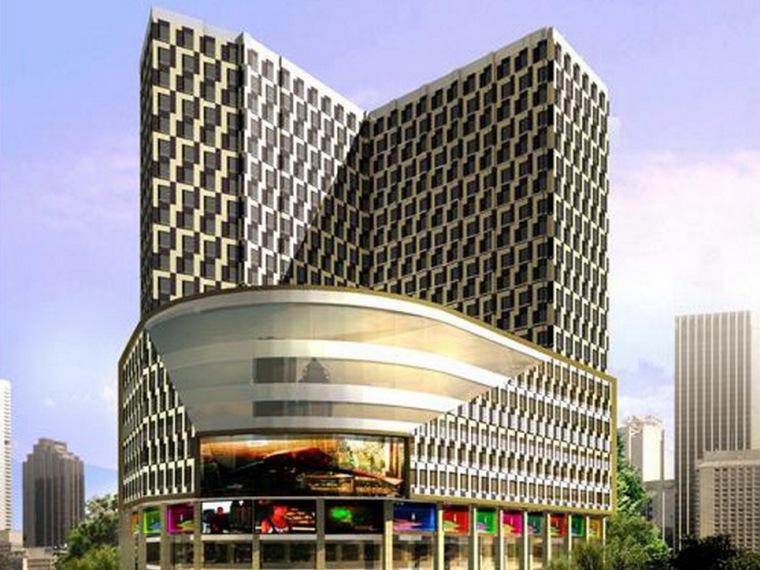 新疆乌鲁木齐某广场外装设计