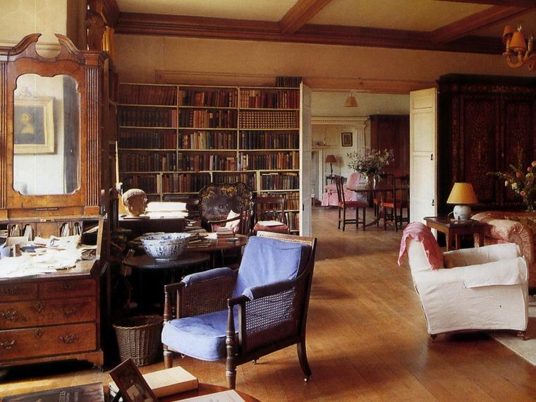 英国乡村住宅生活舒适的房间