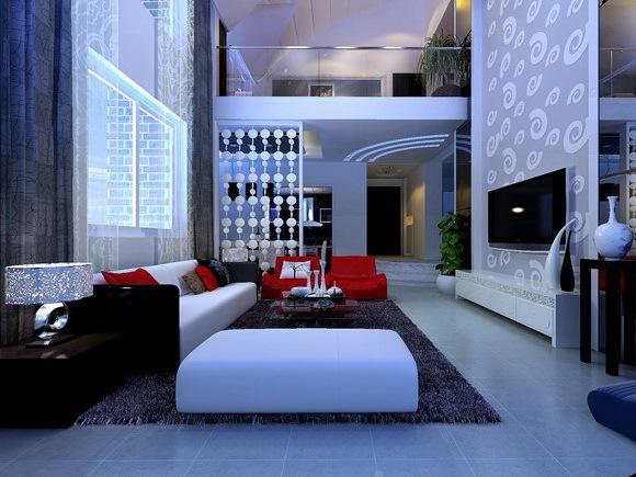 复式居室设计--鹰潭清波雅苑某女士复式楼设计