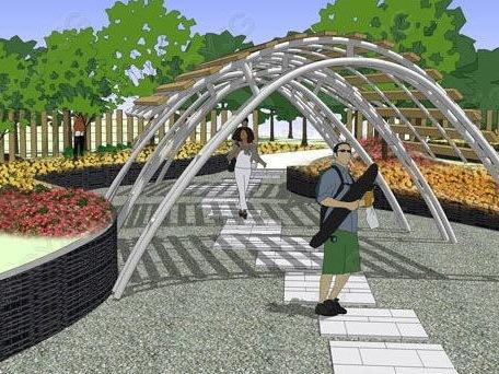 vivo总部方案设计资料下载-廊坊新奥总部公园及主入口轴线景观方案设计