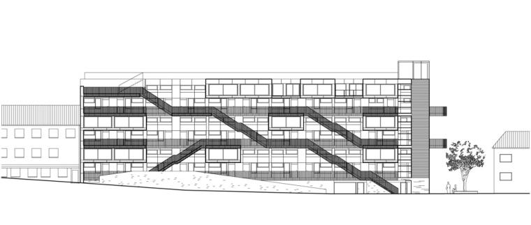 立面图01 elevation 01-Stperigaten 25住宅公寓第10张图片