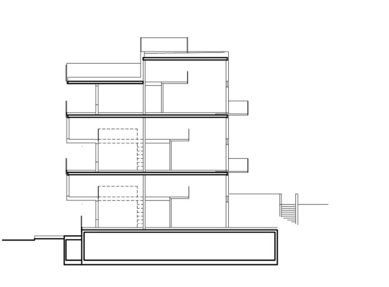 剖面图 section-Stperigaten 25住宅公寓第13张图片