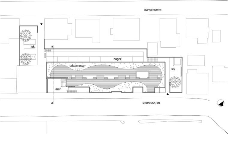 总平面图 site plan-Stperigaten 25住宅公寓第14张图片
