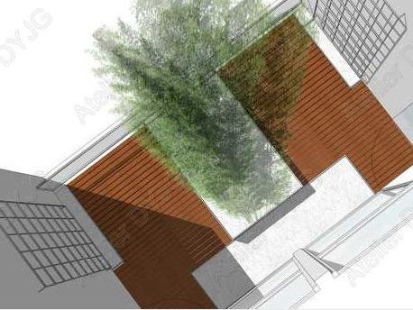 庭院庭院设计资料下载-北京某宾馆建筑庭院设计