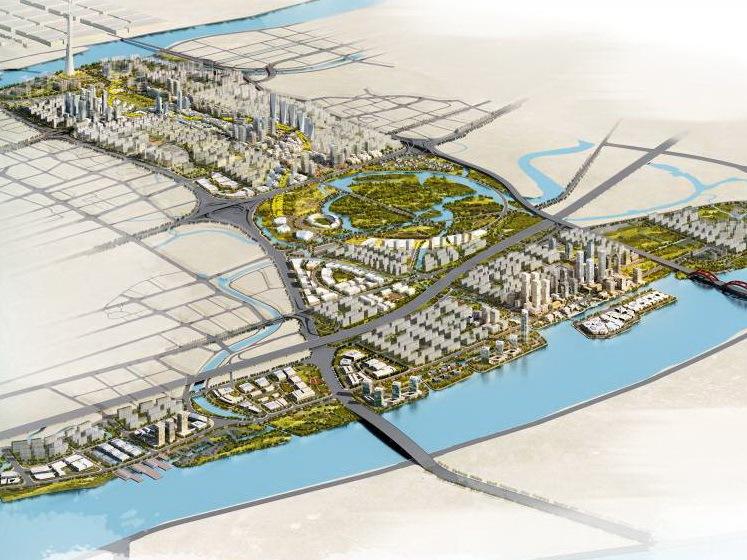 广州新城市中轴线南端及珠江后航道沿岸地区城市设计方案一