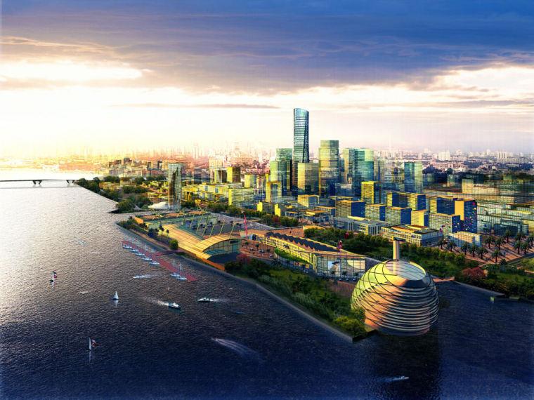 广州新城市中轴线南端及珠江后航道沿岸地区城市设计方案二:岭南家